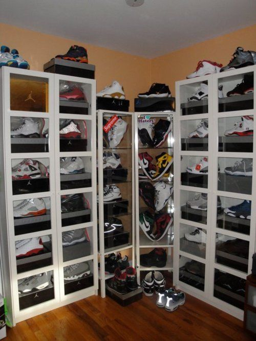 Jordan Display Sneakerhead Bedroom Sneaker Displays Creative