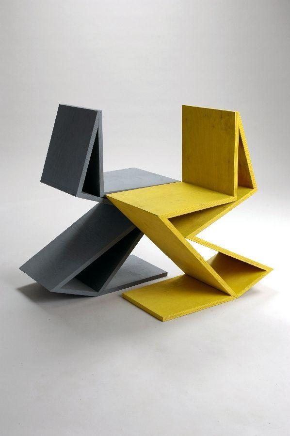 25 Amazing Geometric Designs Via Pinterest Rietveld Chair Chair