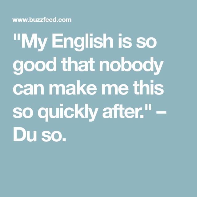 Mindestens Englisch