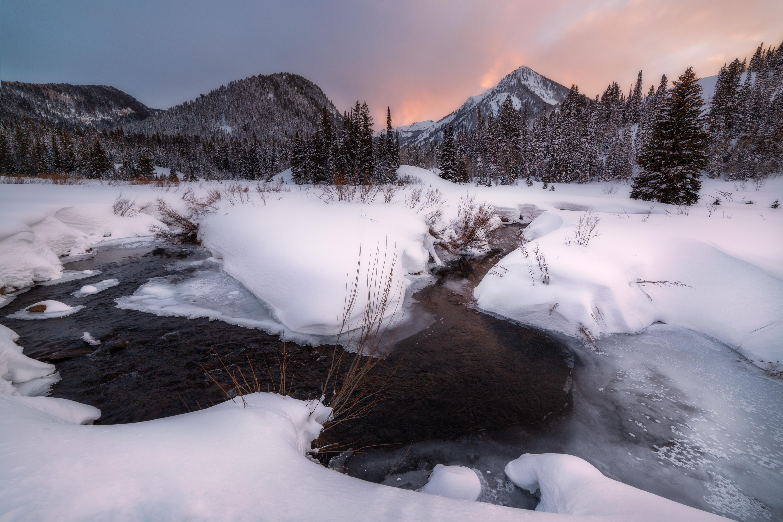 Salt Lake City Ut A Mild Sunset Over A Cold Blanket Of Snow 5760x3840 Oc Http Bit Ly 2gvkeow Salt Lake City Ut Landscape Photographers Cold Blanket