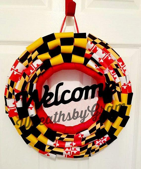 patriotic wreaths for front doorFLAG WREATH MARYLAND FLAG PATRIOTIC WREATH FRONT DOOR WREATH