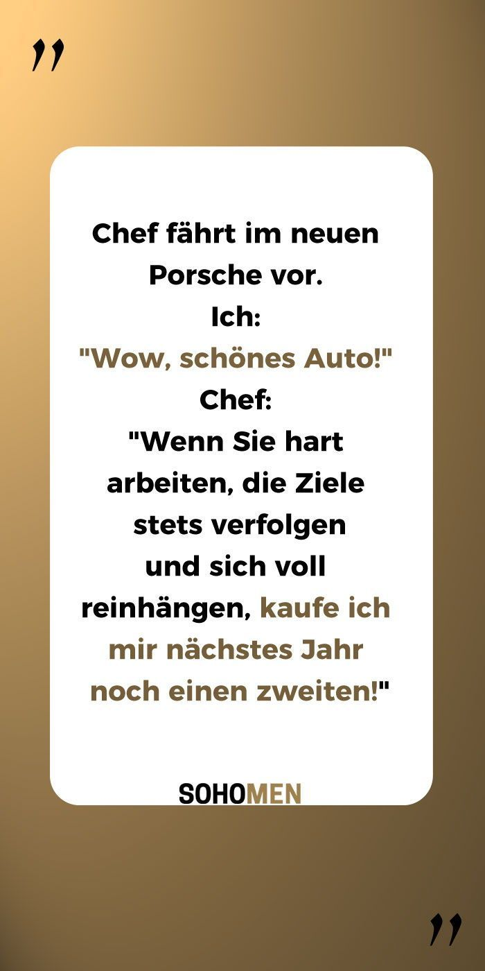 Lustige Spruche Lustig Witzig Funny Chef Porsche Workhard Ch