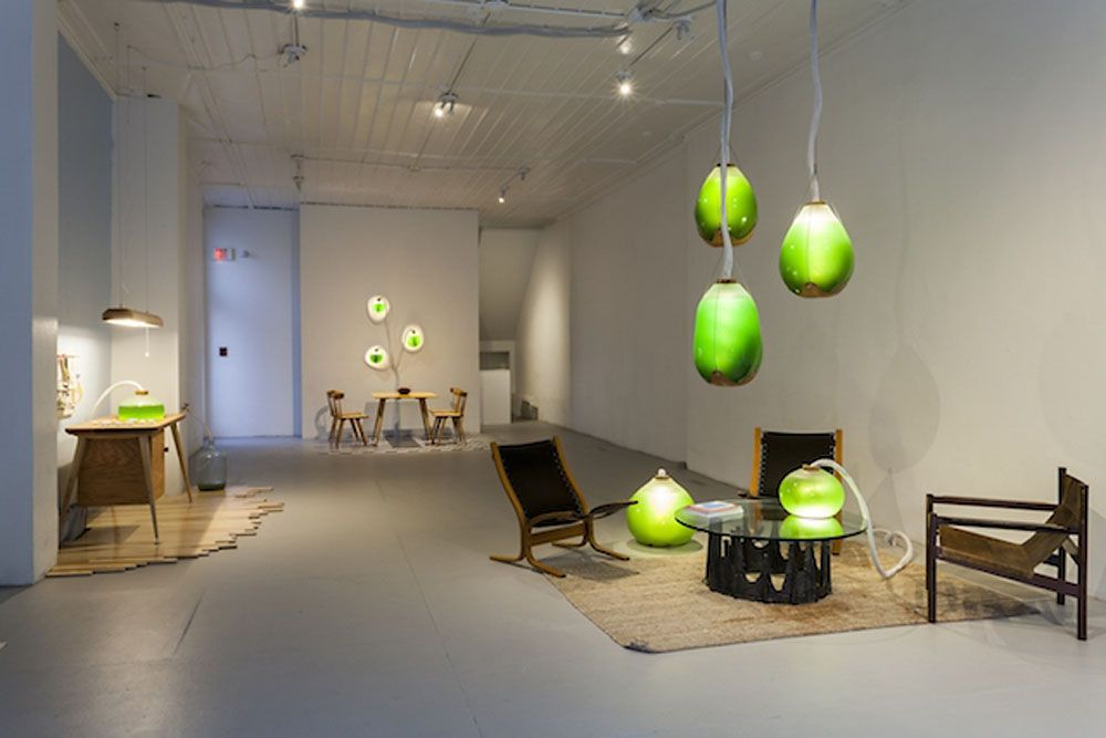 These living algae lamps produce light, heat, and a protein-packed - küche in u form
