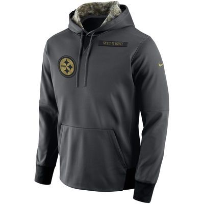 2f4699fa1 Men s Pittsburgh Steelers Nike Anthracite Salute to Service Player  Performance Hoodie XL