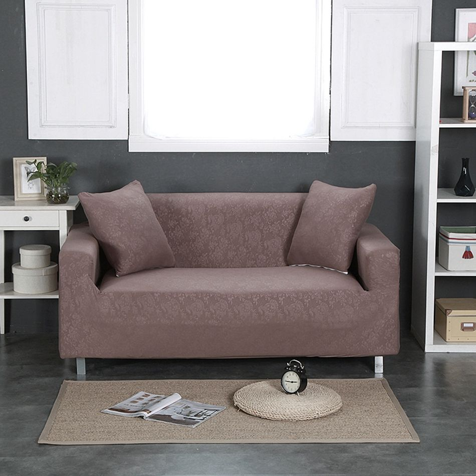 Brown Elastic Sofa Cover Stertchable And Washable Suitable For