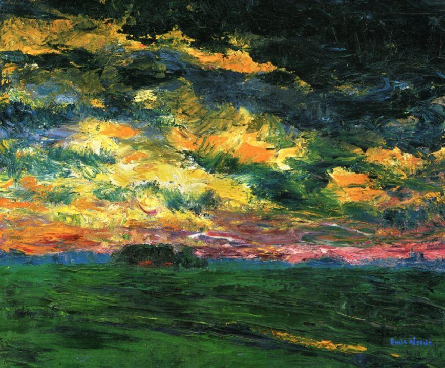 ALONGTIMEALONE: bofransson:   Ruffled Autumn Clouds  Emil Nolde...