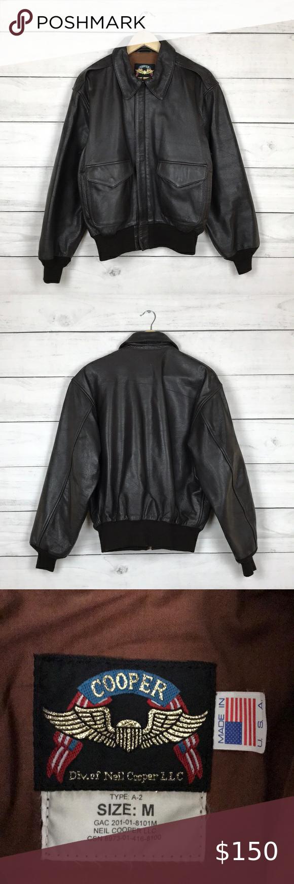 Vintage Cooper A-2 Leather Jacket