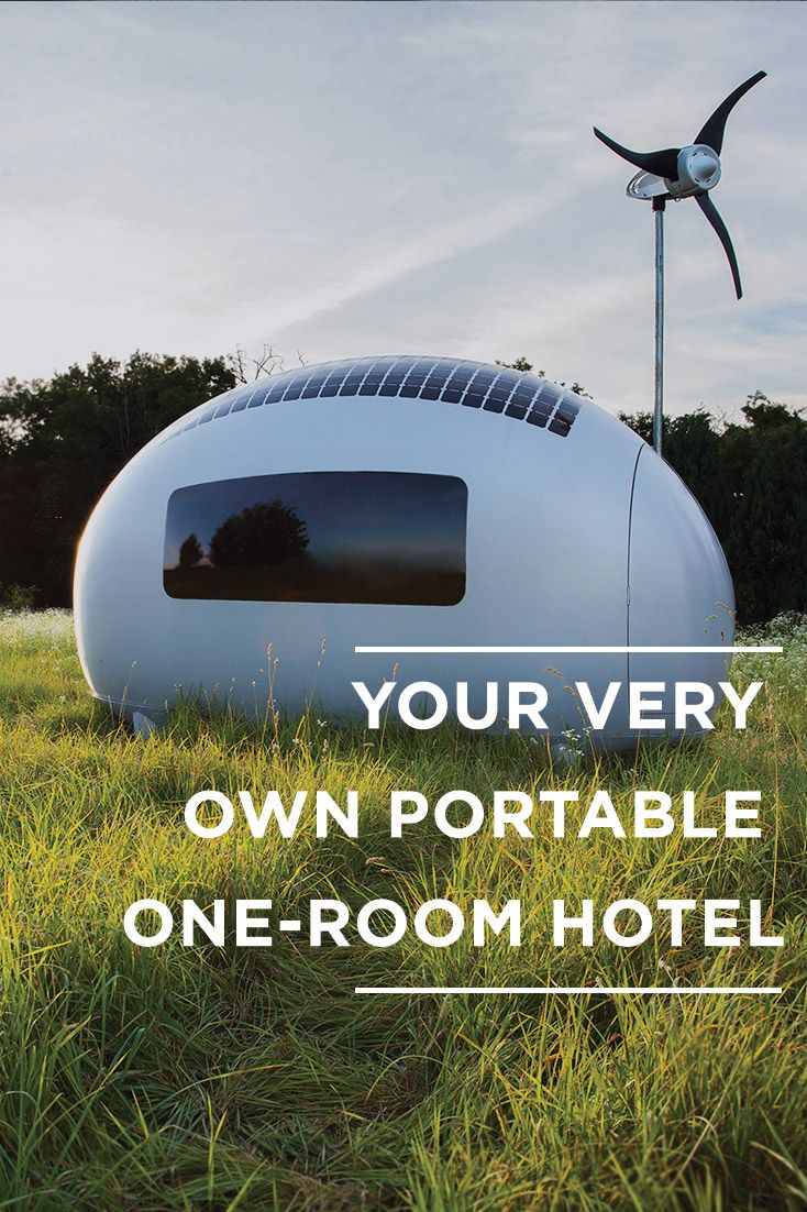 The future of off-the-grid living has arrived, and it's in the form of a tiny egg-shaped home known as the Ecocapsule. Here's the lowdown on the portable hotel room you'll be pining for in the year to come