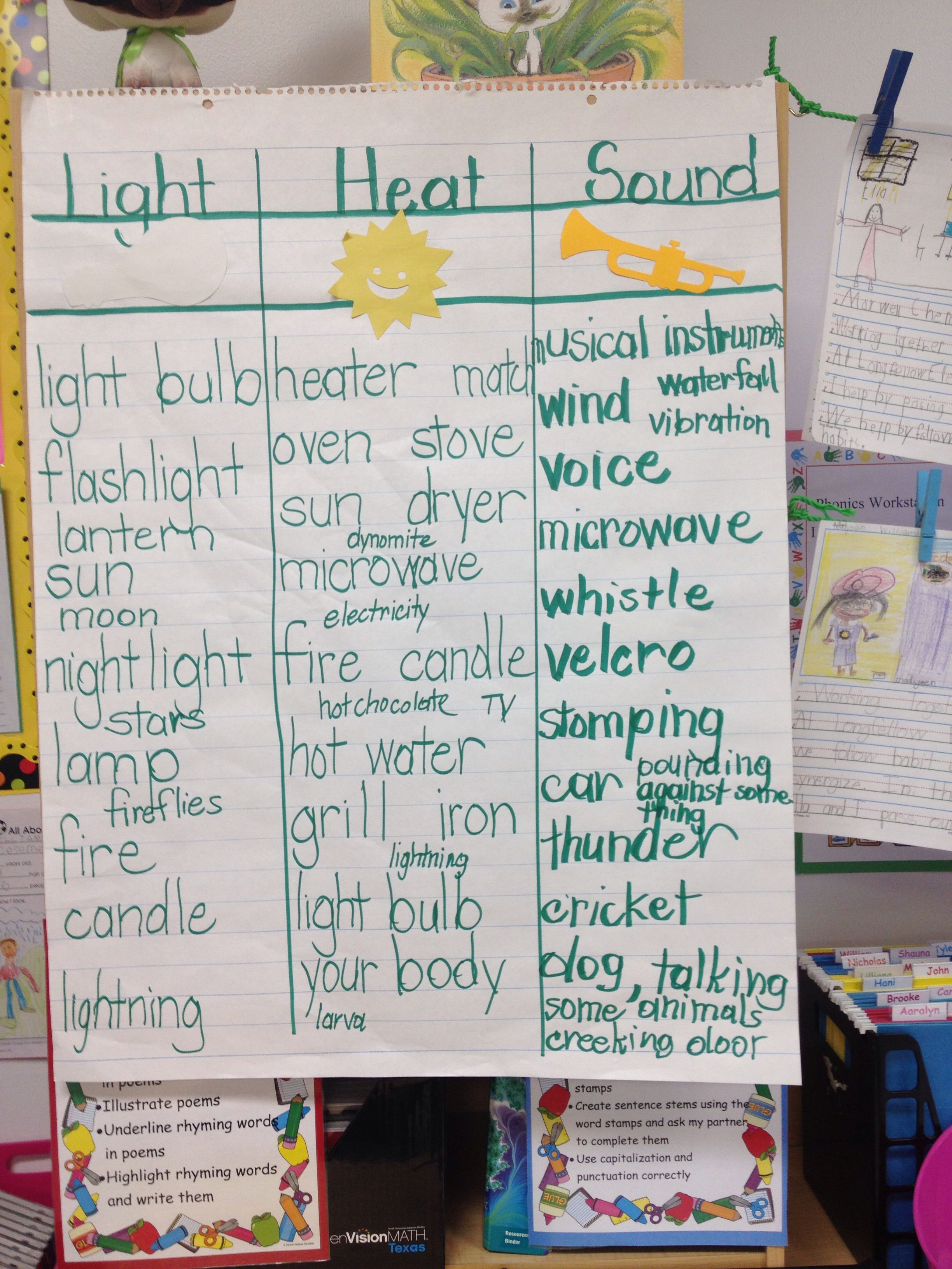 Science Heat Light Sound Physical Science First Grade Science Math Fact Worksheets [ 3264 x 2448 Pixel ]