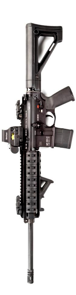Magpul's HK416 showing MOE Fixed Carbine Stock and PMAG 20