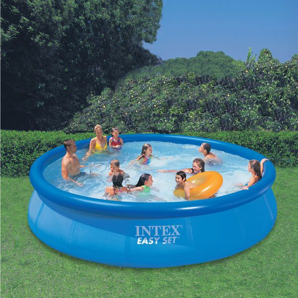 Affordable 15 X 36 Outdoor Family Inflatable Swimming Pool Easy Setup Intex