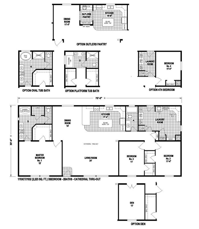Skyline Homes West Ridge Premier 1703ct 2223 Sq Ft All Walk In Closets Butler S Pantry My Laundry S Mobile Home Floor Plans House Floor Plans Floor Plans