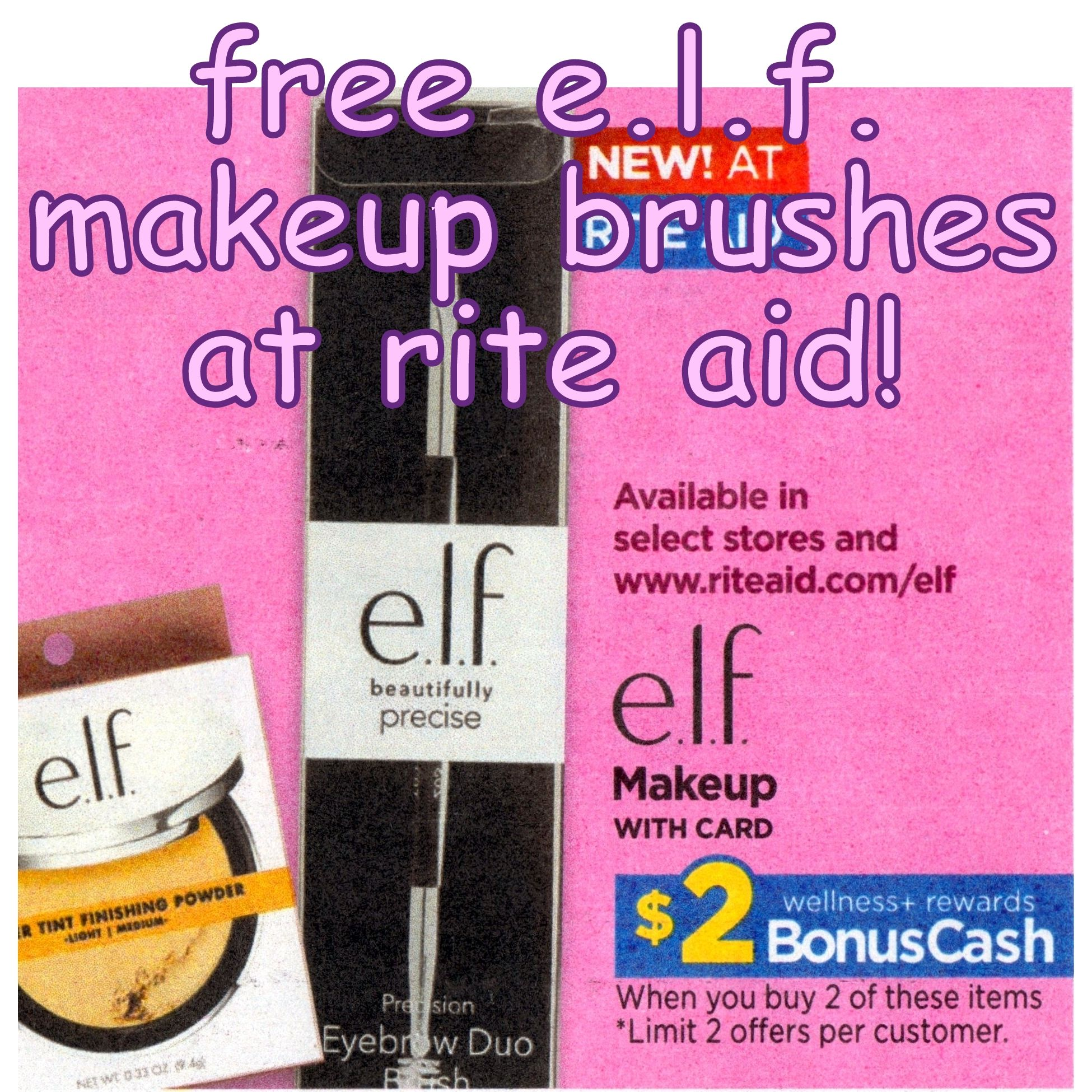 Free E L F Makeup Brushes At Rite Aid Details Here Http Www Iheartriteaid Com 2018 08 0826 0901 Html Elf Freebies Rite Rite Aid Makeup Brushes Makeup