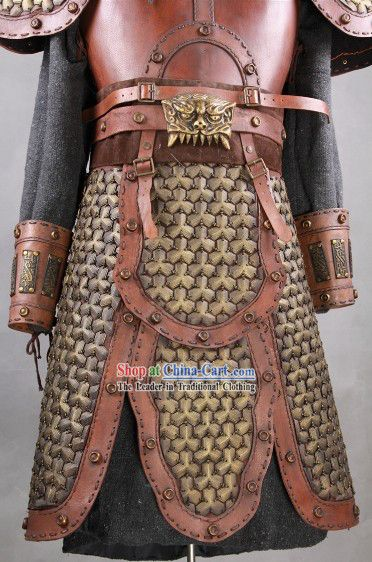 Asian ring armour on leather galleries