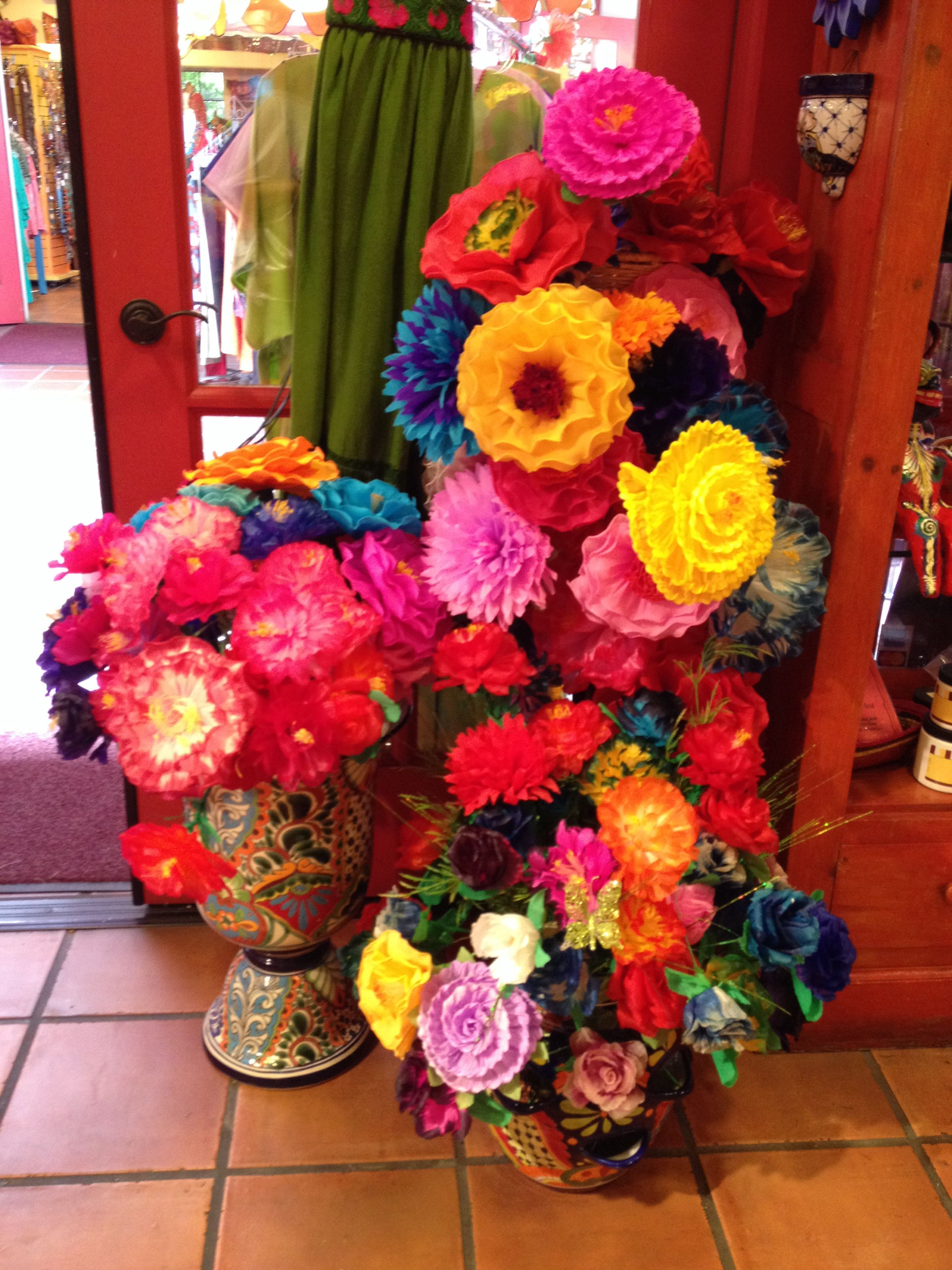 Mexican Paper Flowers Paper Flower Centerpieces Mexican Paper Flowers Flower Centerpieces