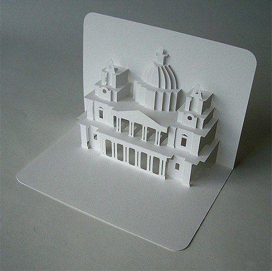 изменилось, макет открытка здания красивыми