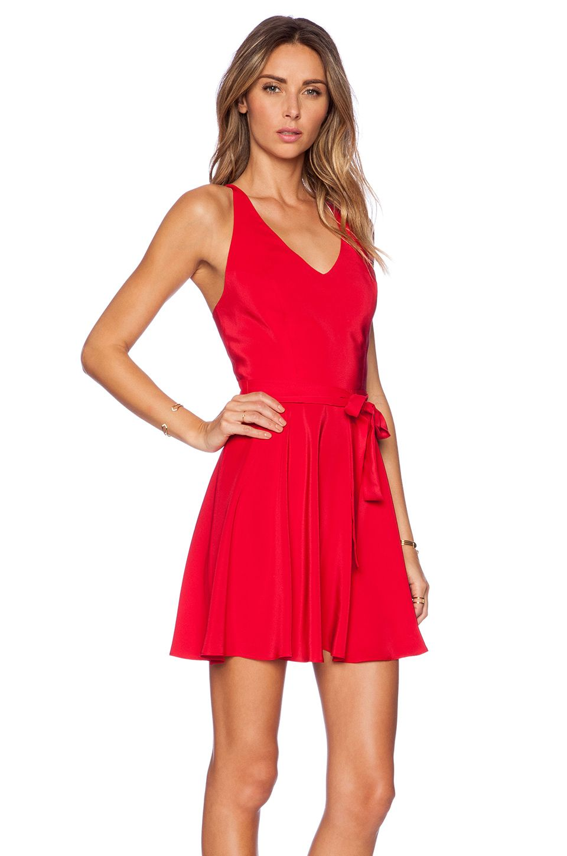 **DARS DRESS** Amanda Uprichard Louisa Dress in Ruby | REVOLVE