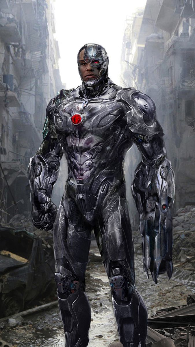 Cyborg. Hey! This is actually pretty cool! Looks like it's been painted by Nebeziel. Was it?
