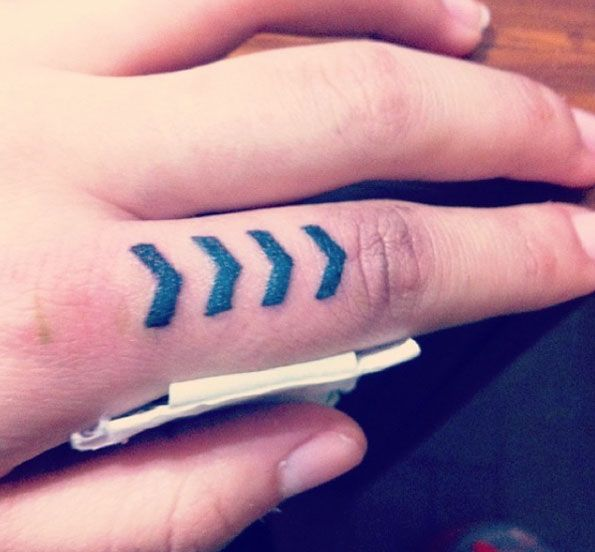 The 100 Best Finger Tattoos For Men One Direction Tattoos