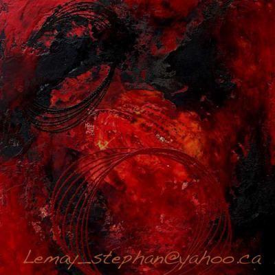 encaustique 007 par Stephan Lemay : Peinture, Bois, Peinture, Abstrait, Art abstrait