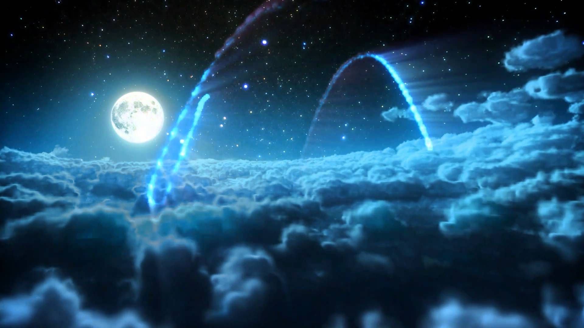 LOGO INTRO 3D High Definition 1080p 720p Night Sky