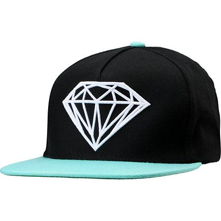 d6aab4a06 Diamond Supply Co Brilliant Black & Blue Snapback Hat in 2019 ...