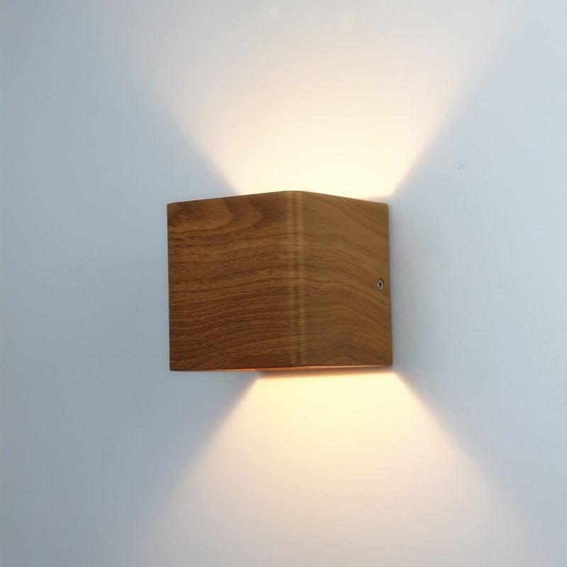 Goedkope Houtnerf Led Wandlamp 100  240 V Aluminium Up