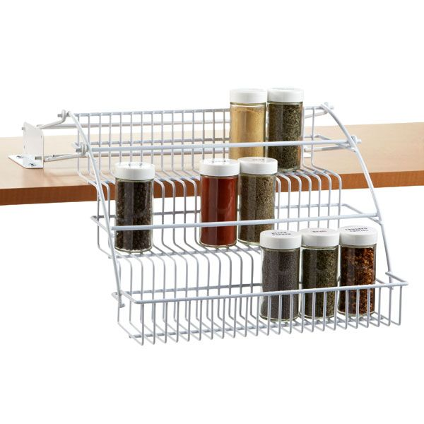 Rubbermaid Pull-Down Spice Rack | Container store, Organizations ...