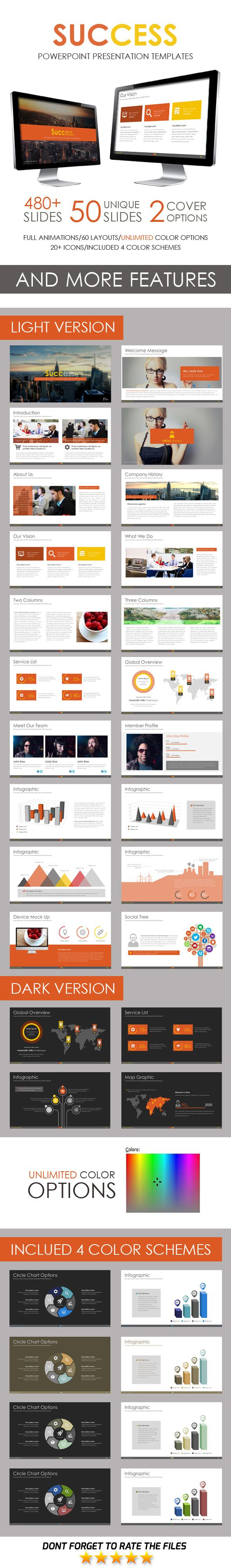 Success Powerpoint Template Pinterest Template Success And