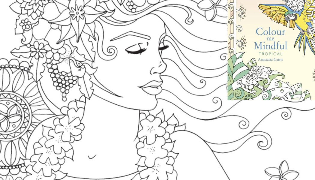 Hawaiian Girl Free Pattern Download Free Adult Coloring Pages