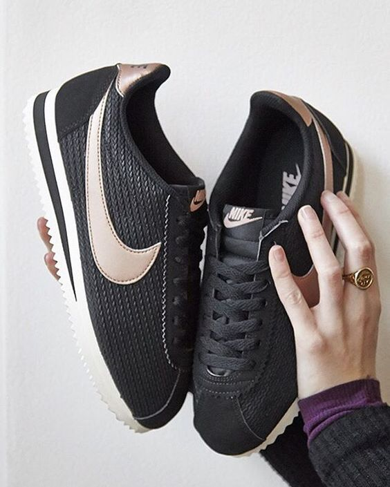 hot sale online 7cb42 8b258 Nike Cortez in black metal | shoes | sneakers | fashion | camden | white