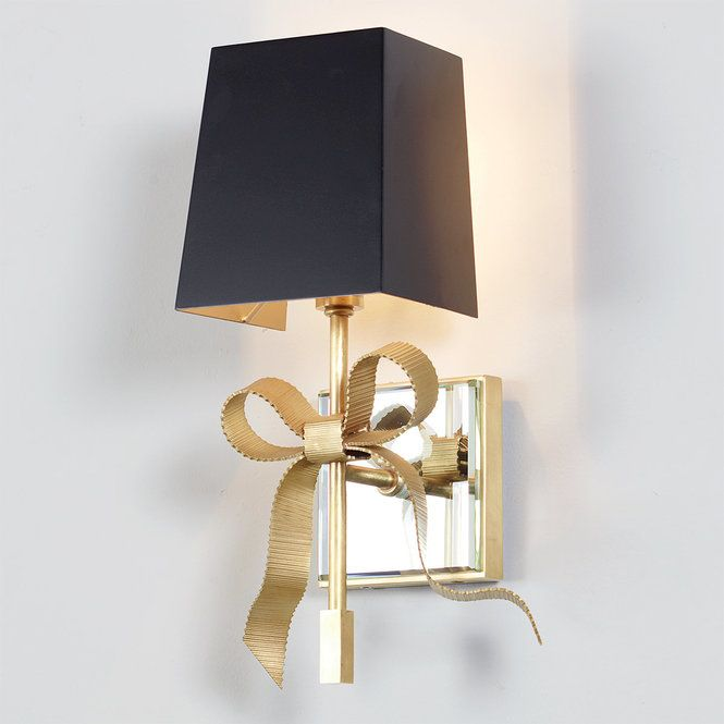 Tied Bow Shaded Sconce Wall Sconces Living Room Wall Sconces Bedroom Interior Wall Sconces Wall sconces with shades