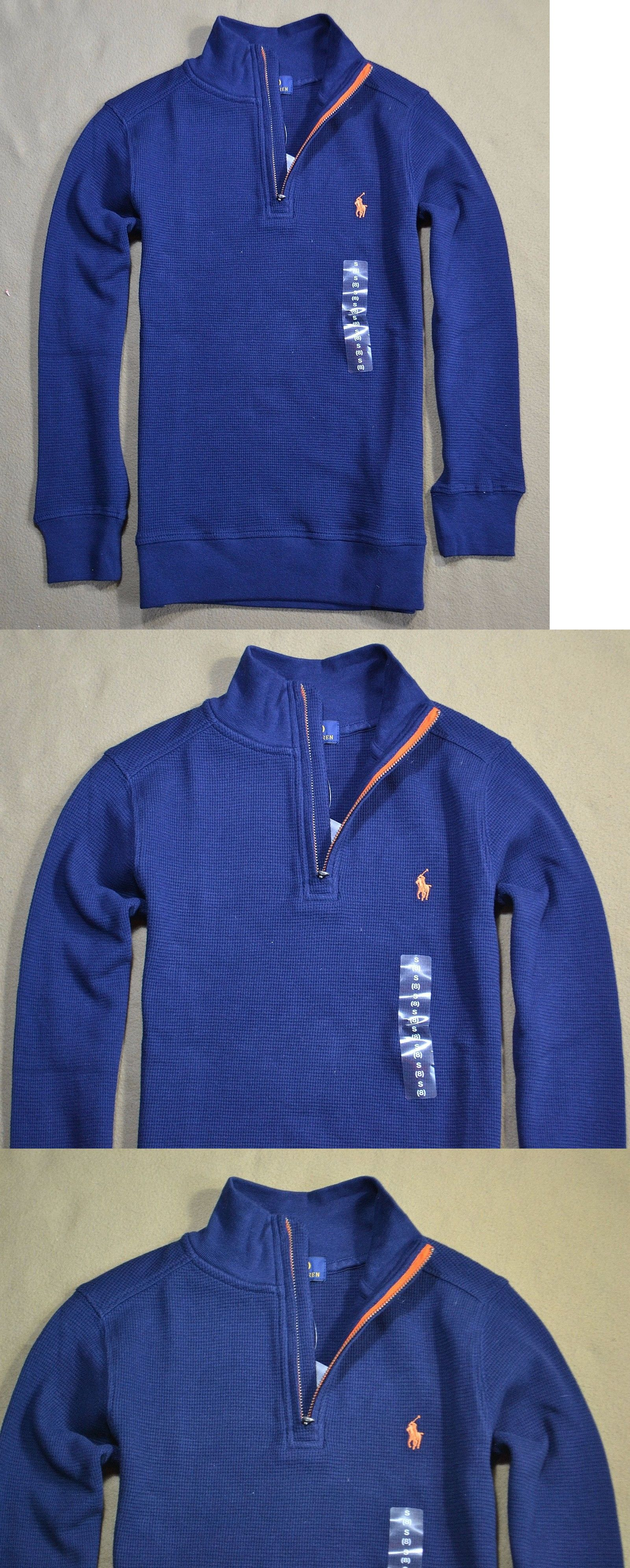 c8c6131533d6 ... cheap sweaters 51946 nwt boys polo ralph lauren zip up henley ls  thermal sweater shirt size