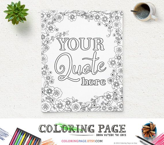 Printable Coloring Page Custom Design Quotes Bible Verse Floral Mandala Book Anti Stress