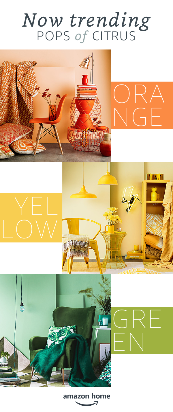 Pops of color orange lemon and lime hues to brighten your home for winter shop amazon home