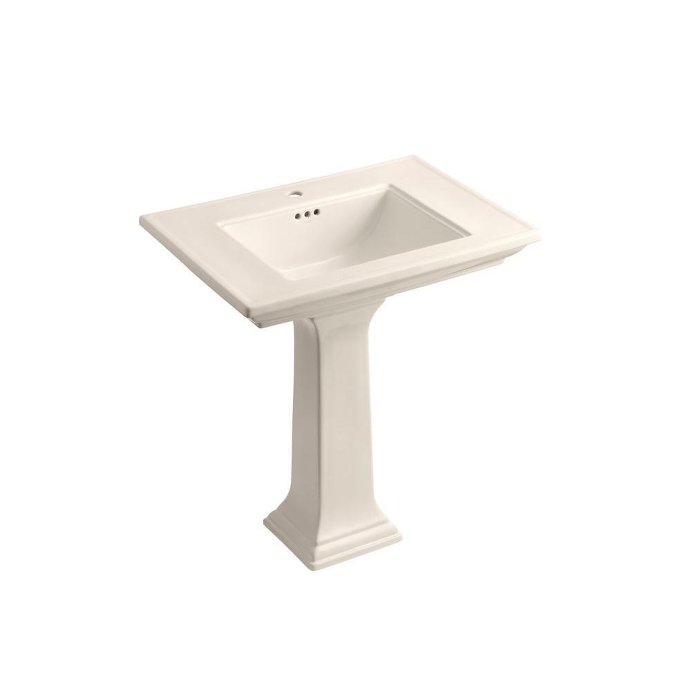 Kohler Memoirs Ceramic Pedestal Combo Bathroom Sink In Innocent