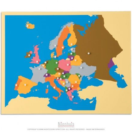 Carte puzzle de l'Europe | Montessori