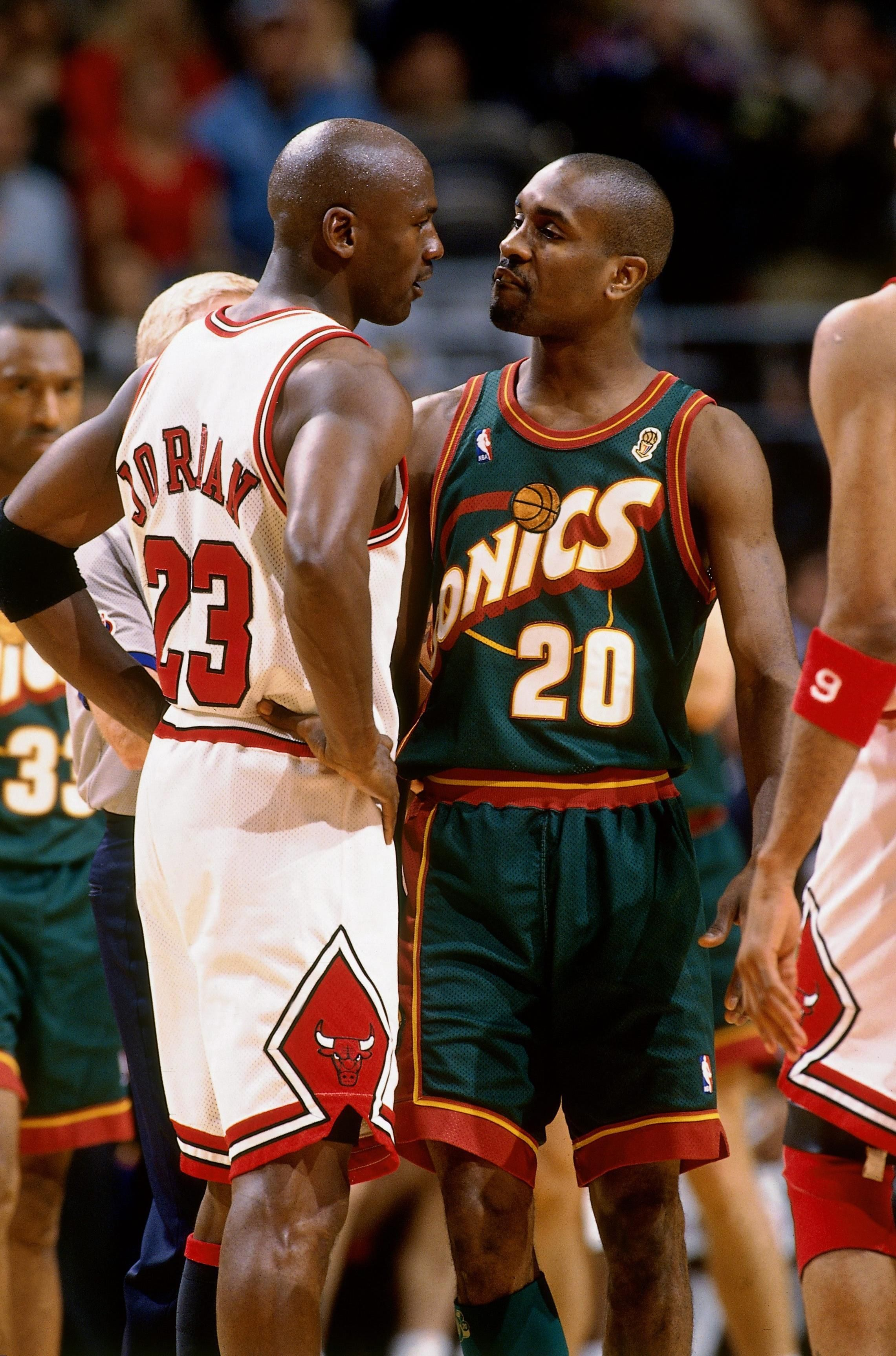 "Gary Payton:""fuck you"" MJ:""fuck you,too!"""