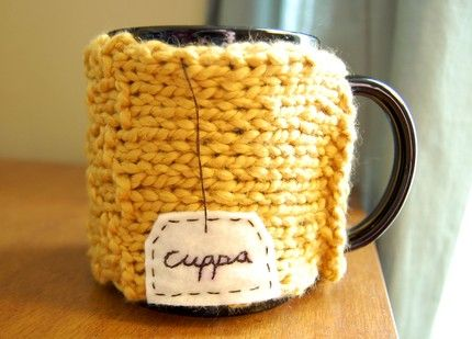 Coffee Mug Cozy: this mug is customizable-love it!