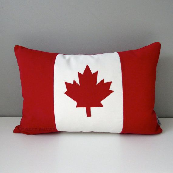 Canada Flag Pillow Cover Canadian Flag Outdoor Pillow Cover Maple Leaf Decorative Pillow Cover Red White Sunbrella Cushion Cover Outdoor Pillow Covers Pillow Covers Decorative Pillow Covers