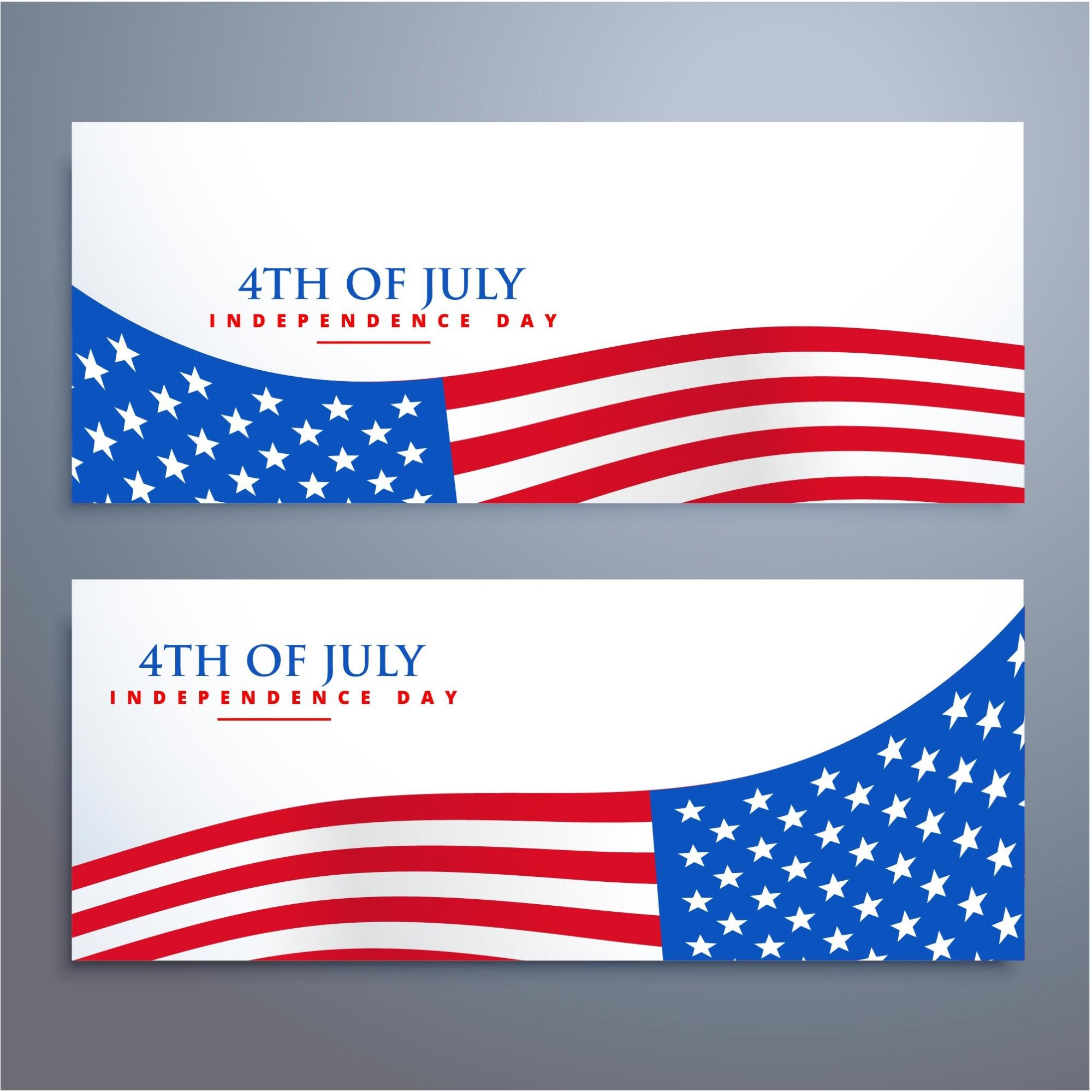 4th Of July USA Independence day Banners vector background