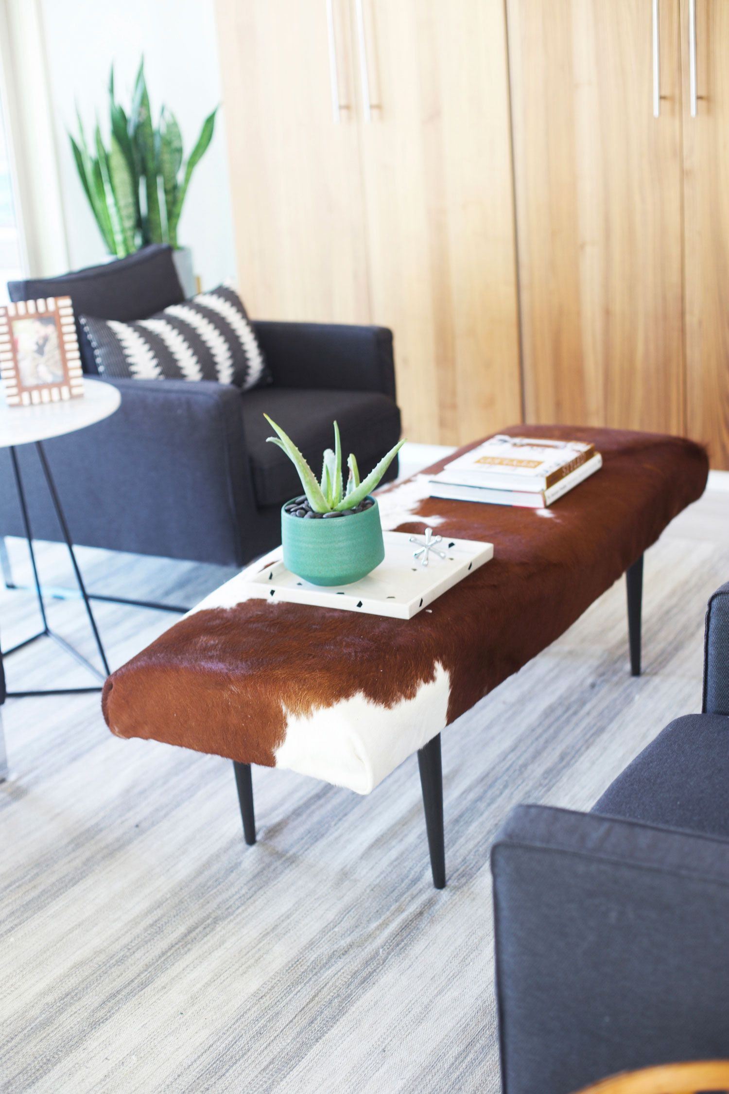 Ikea Cowhide Rug Apr 10 Ikea Hack Cowhide Ottoman Diy Ikea Rug Ikea Table Hack