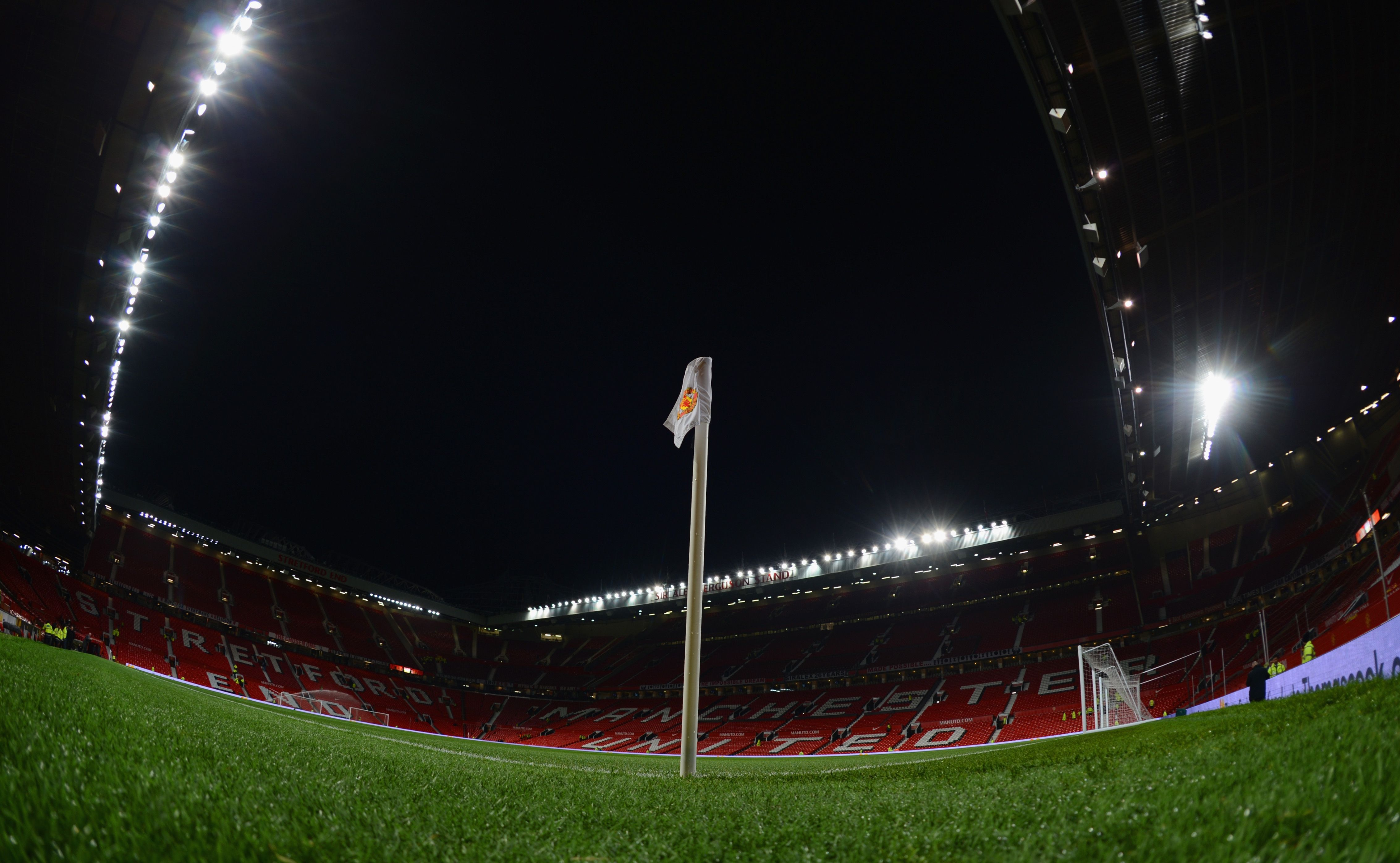 Right In The Corner At Old Trafford Home Of Manutd