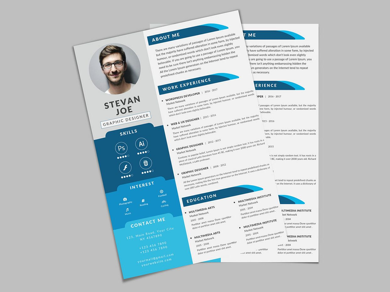 Free Modern PSD Resume Template Creative resume template
