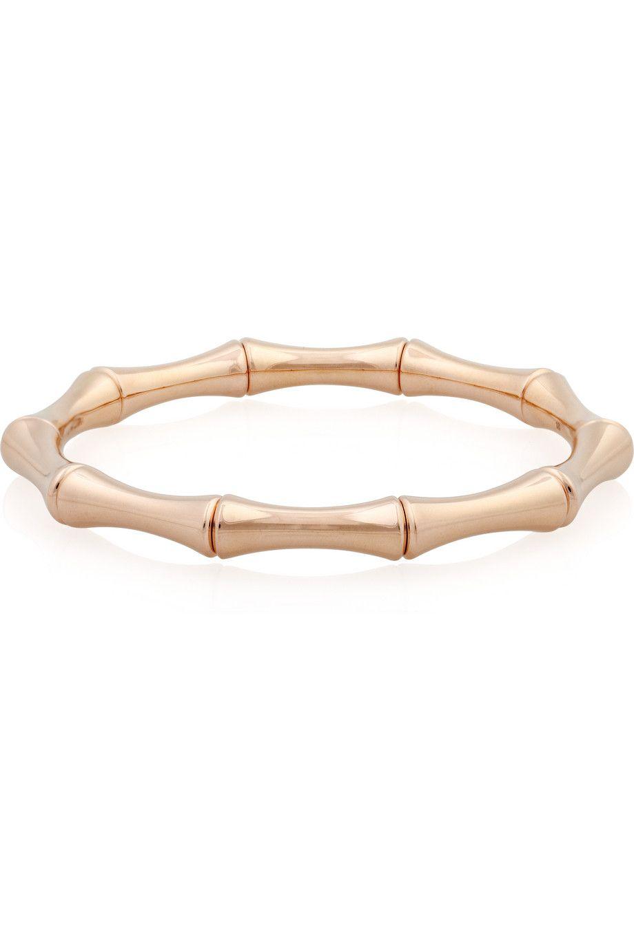 059e8a484 GUCCI 18-karat rose gold bamboo bracelet   Jewelry   Bracelets ...