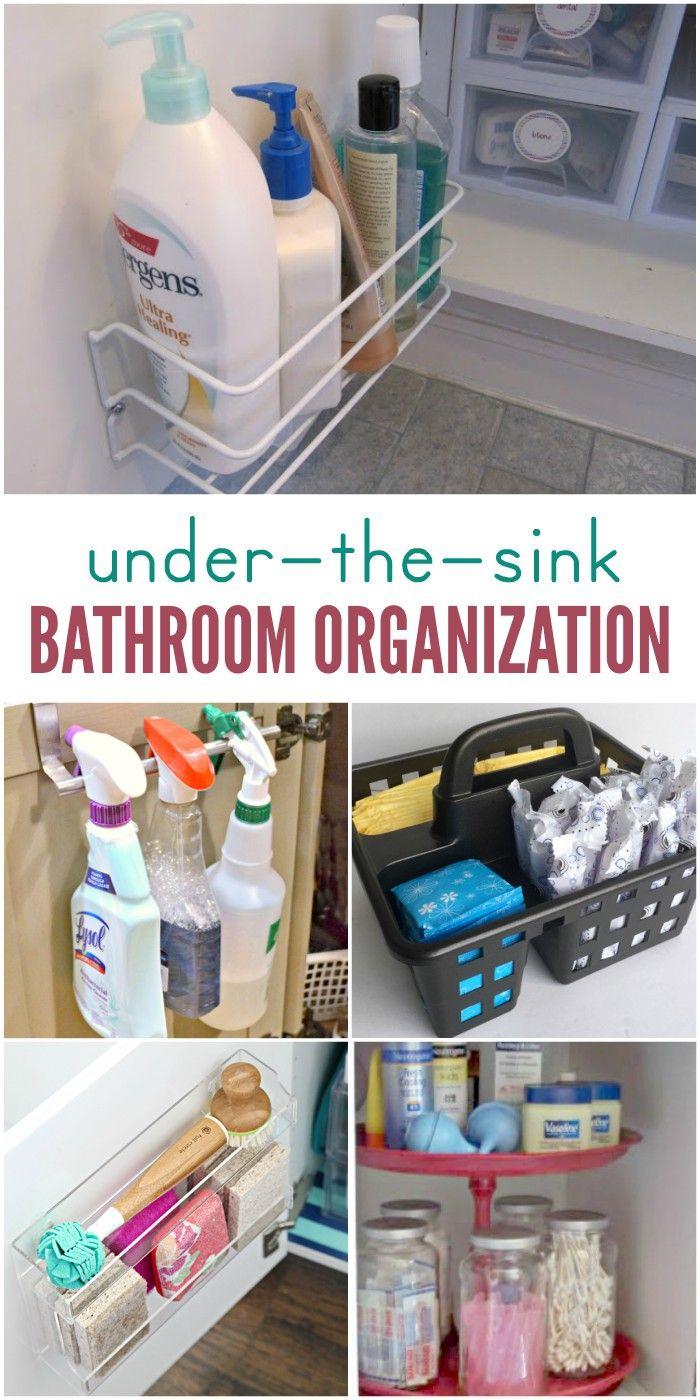 15 Ways To Organize Under The Bathroom Sink Bathroom Sink Storage Bathroom Sink Storage Ideas Bathroom Sink Organization [ 1400 x 700 Pixel ]