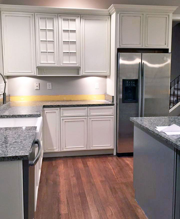 Custom Color Kitchen Cabinet Makeover Paint Kitchen Cabinets