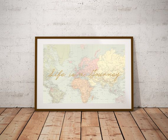 World map printable arttivational print by thedigitalprintables world map printable arttivational print by thedigitalprintables sciox Image collections