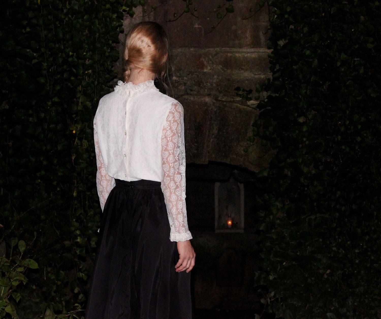 viktorianisch weisse Spitzen Bluse Gunne Sax-Style | Ruffled Collars ...