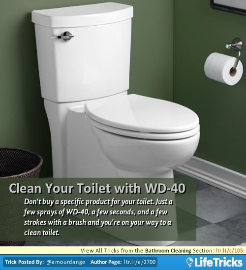 Bathroom Cleaning Clean Your Toilet With Wd 40 Food